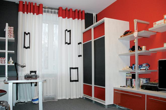 Шторы в комнате мальчика подростка дизайн