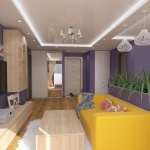 Обединённая кухня и гостиная дизайн