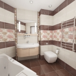 """""""Дорогой"""" дизайн ванной из плитки 600м23"""