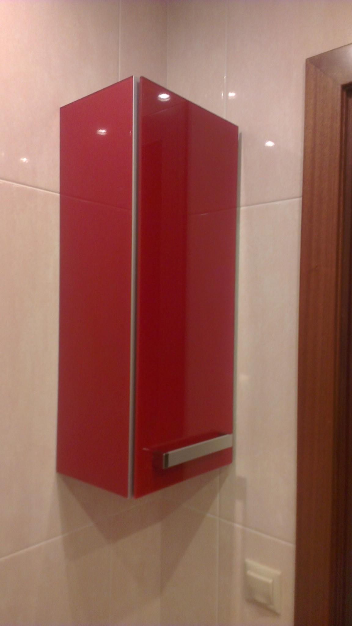 Красный дизайн мебель для ванной