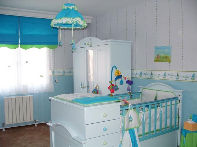Голубенькие красивые шторы