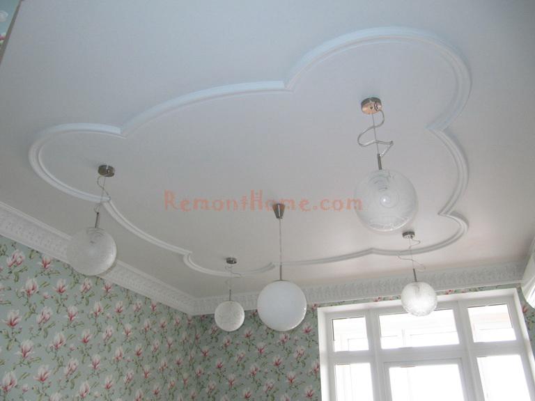 Потолок в детской комнате необычный дизайн