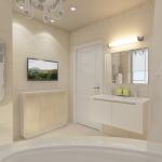 Дизайн ванной в светлых танах