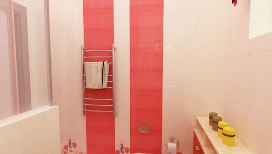 Яркий дизайн туалетной комнаты