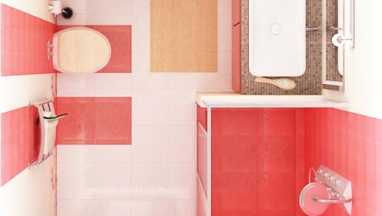 Дизайн сверху туалетной комнаты