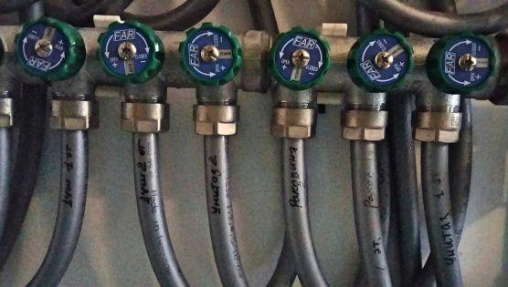 Монтаж водоснабжение трубами Рехау