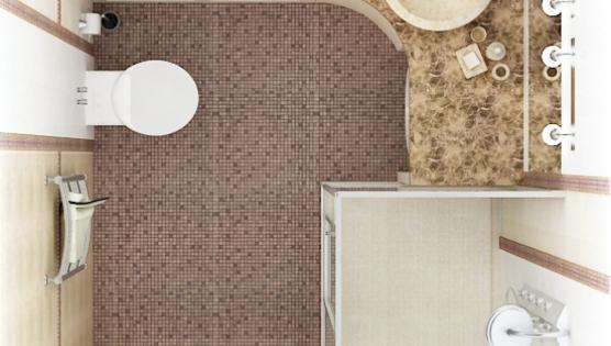 Дизайн туалетной комнаты вид сверху