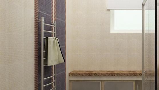 Дизайн туалетной комнаты - вид при входе