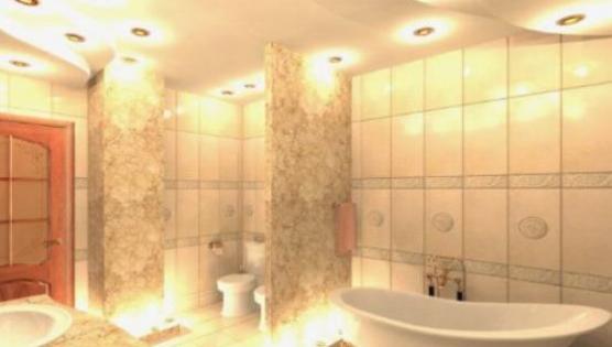 Освещение в ванной комнате по фен-шуй