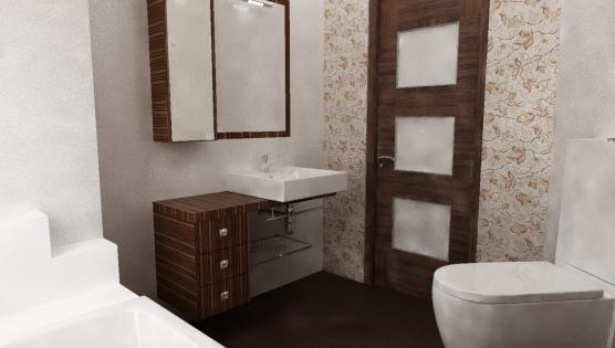 Дизайн туалетной комнаты в шоколадных тонах