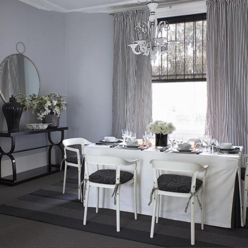 Красивые шторы для обеденного зала