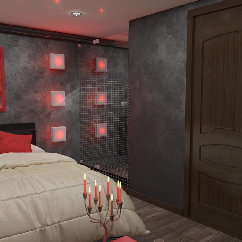 Спальня со вкусом Бургундского