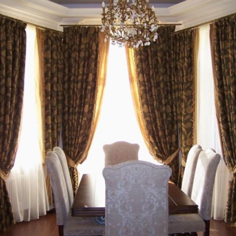 Шикарные шторы в обеденный зал