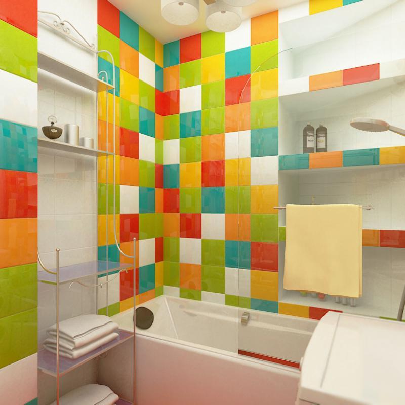 Дизайн в стиле кубик рубик