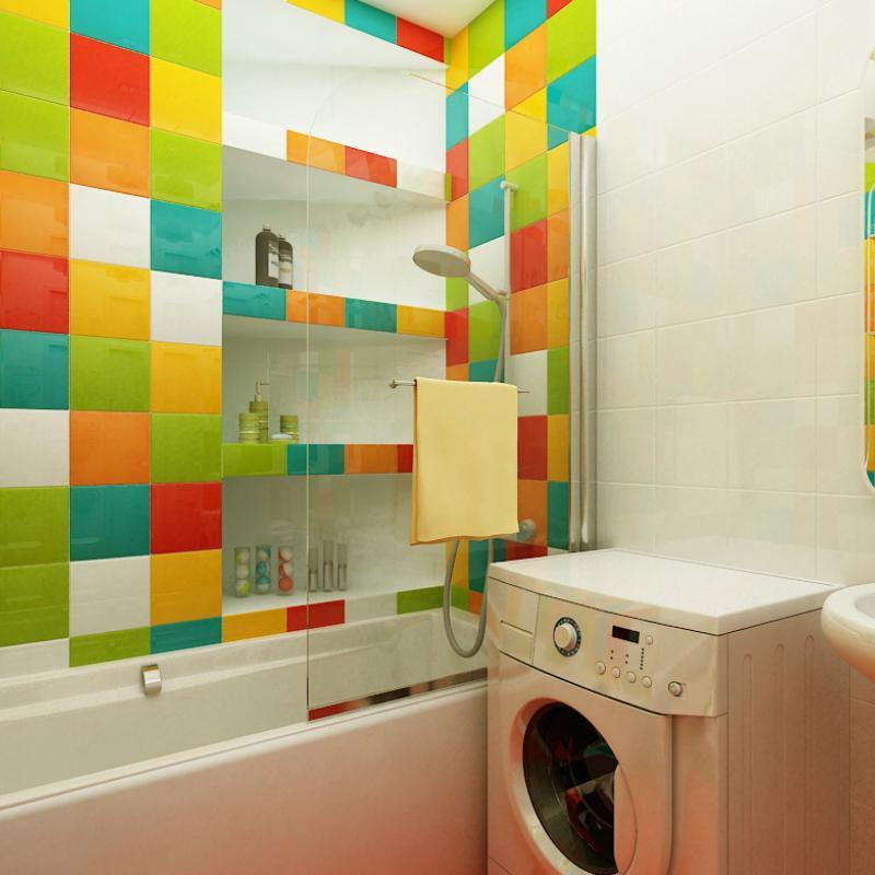 Ванная в стиле кубик рубик
