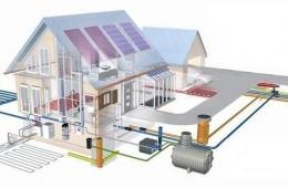 Монтаж системы отопления в коттедже