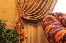 Оформление штор в классическом виде