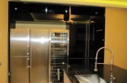 Подсветка рабочей зоны кухни неоновыми лампами