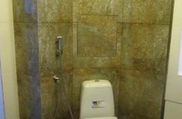 Гостевой туалет отделаный керамогранитом