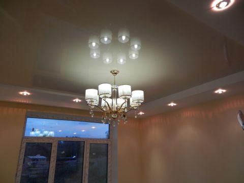 Двухуровневый потолок из ГКЛ и такни
