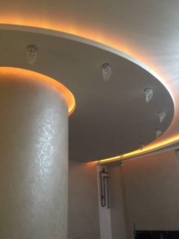 Дизайнерская подсветка потолка формы полукруга