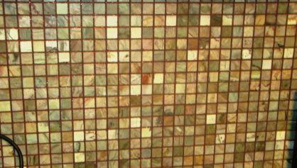 Затирка мозаики двух компонентной затиркой
