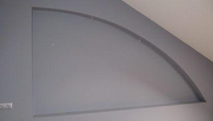 Декоративная простая ниша в стене