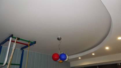 Потолок в детской с подсветкой и точечными светильниками