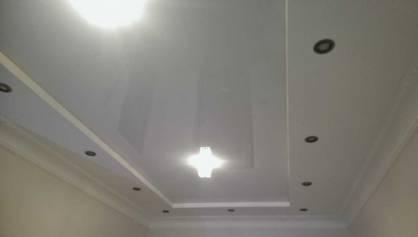 Комбинированный потолок гипсокартон + натяжной