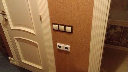 Вид установленных выключателей и регуляторов теплого пола