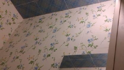 Ремонт туалета в синих тонах метро полежаевская